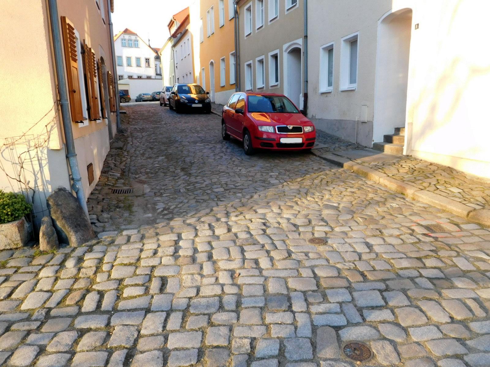 innerstädtische Straßensanierung
